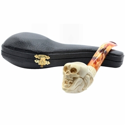 Skull Head Block Meerschaum Pipe