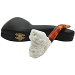 Pirate Lattice Shank Block Meerschaum Pipe