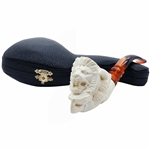 Lion in Claw Block Meerschaum Pipe