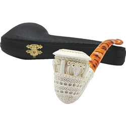 Deluxe 3D Lattice Topkapi Block Meerschaum Pipe