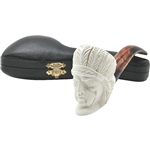 Indian Chief Block Meerschaum Pipe