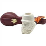 Confederate Soldier Block Meerschaum Pipe
