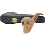 Colored Skull Block Meerschaum Pipe