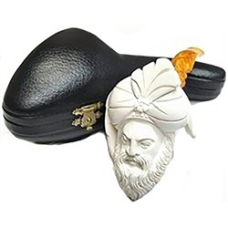 Hand Carved Oom Paul Style Sultan Meerschaum Pipe