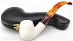 Hand Carved Smooth Small Meerschaum Pipe
