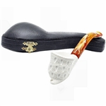 Free Form Lattice Block Meerschaum Pipe