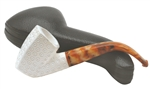 Hand Carved Lattice Panel Oom Paul Block Meerschaum Pipe