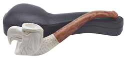 Hand Carved Eagle Beak Block Meerschaum Pipe