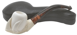 Hand Carved Oom Paul Style Claw Block Meerschaum Pipe