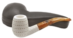 Hand Carved 3 Dimensional Lattice Block Meerschaum Pipe