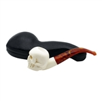 Smooth Skull Block Meerschaum Pipe