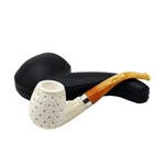 Deluxe Teardrop Lattice Block Meerschaum Pipe