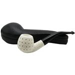 Apple Teardrop Lattice Block Meerschaum Pipe