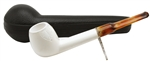 Smooth Canadian Oval Shank Block Meerschaum Pipe