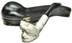 Hand Carved Sultan Knurl Stem Meerschaum Pipe