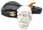 Deluxe Hand Carved Shakespeare Meerschaum Pipe
