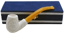 Embossed Floral Block Meerschaum Pipe