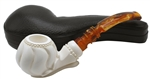 Designer Apple Sitting Block Meerschaum Pipe