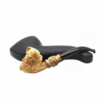 Colored Pirate Knurl Block Meerschaum Pipe