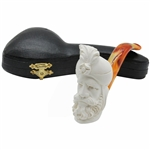 Tall Sultan Block Meerschaum Pipe