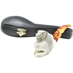 Rusticated Dragon Block Meerschaum Pipe