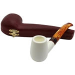 Smooth Billiard Block Meerschaum Pipe