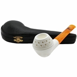 Smooth Rhodesian Block Meerschaum Pipe