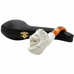 Lion Knurl Block Meerschaum Pipe