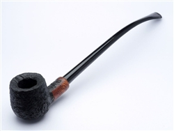Churchwarden Rustic Finish Briar Pipe