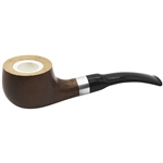 9mm Dapper Meerschaum Lined Briar Pipe