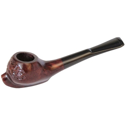 Small Carved Italian Briar Pipe
