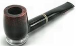 Dark Polished Double Brass Ring Briar Pipe