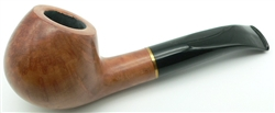 9mm Apple Bent Brass Ring Colton German Briar Pipe