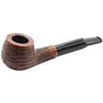 9mm Rusticated Trim Ring Briar Pipe