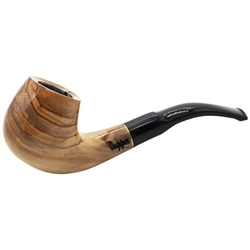 Dapper Matte Olive Wood Pipe