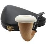 Extra Large Mahogany Calabash Pipe with Meerschaum Bowl