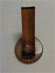 Woodmere 1 Pipe Teak and Ebony Pipe Holder