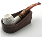 1 Pipe Wood Holder with Flat Bottom