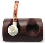 2 Pipe Wood Holder