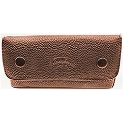 Savinelli Lichee Leather 2 Pipe Bag with Tobacco Pouch - Brown