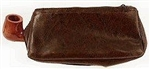 Brown Leather Pipe and Tobacco Combo Pouch