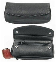 Combination Pipe & Nice Size Special Rubber Lined Tobacco Pouch