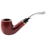Royal Billiard Double Ring Lucite Bent Stem Italian Briar Pipe