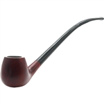 Royal Red Apple Churchwarden Italian Briar Pipe