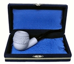 Mini Deluxe Hand Carved Topkapi Meerschaum Pipes with Velvet Chest
