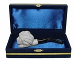 Mini Deluxe Hand Carved Indian Meerschaum Pipes with Velvet Chest