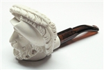 Mini Deluxe Hand Carved Cavalier Meerschaum Pipes