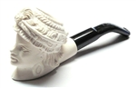Mini Deluxe Hand Carved Victorian Lady Meerschaum Pipes