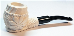 Mini Deluxe Hand Carved Floral Meerschaum Pipes