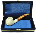Standard Embossed Dragon Meerschaum Pipes with Velvet Chest